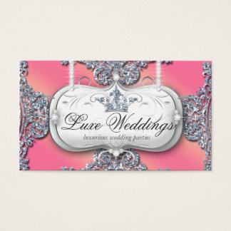 Cartão De Visitas Jóia de 989 formas que Wedding o brilho elegante