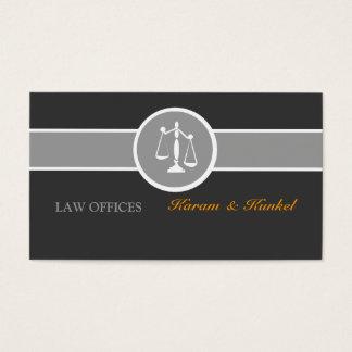 Cartão De Visitas Justiça legal do advogado escala Black|White|Gray