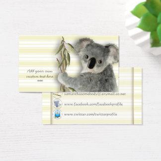Cartão De Visitas Koala bonito