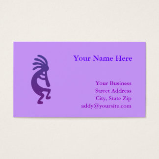 Cartão De Visitas Kokopelli mágico roxo