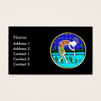 Cartão De Visitas Kokopelli sob as estrelas
