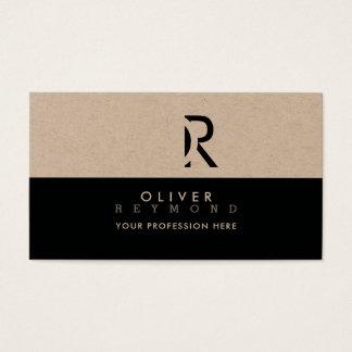 Cartão De Visitas kraft profissional elegante, moderno & à