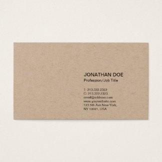 Cartão De Visitas Kraft superior liso moderno minimalista