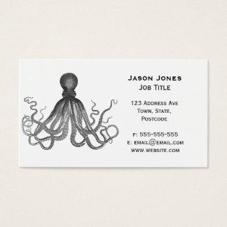 Cartão De Visitas Kraken - polvo gigante preto/Cthulu