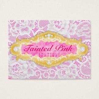 Cartão De Visitas Laço cor-de-rosa Tainted GC