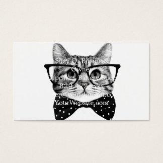 Cartão De Visitas laço do gato - gato dos vidros - gato de vidro