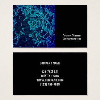 Cartão De Visitas Laço gótico dos azuis marinhos do Victorian
