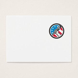 Cartão De Visitas Lado Circ angular da bandeira dos EUA da chave de