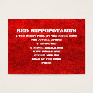 Cartão De Visitas Lama vermelha