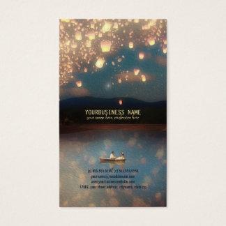 Cartão De Visitas Lanternas do desejo do amor