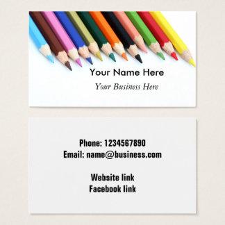 Cartão De Visitas Lápis da cor personalizados