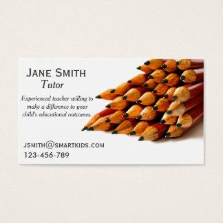 Cartão De Visitas Lápis Freelance do na moda do tutor ou do