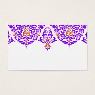 Cartão De Visitas Laranja roxa fabulosa do damasco de 311