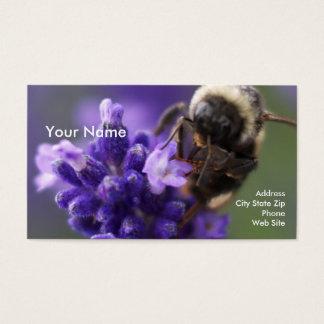 Cartão De Visitas Lavanda e abelha