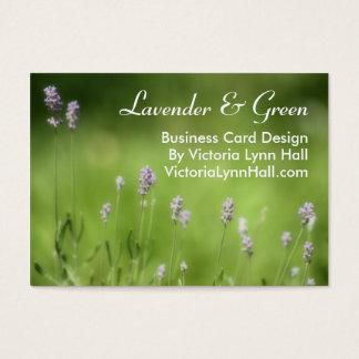 Cartão De Visitas Lavanda & fotografia floral do verde