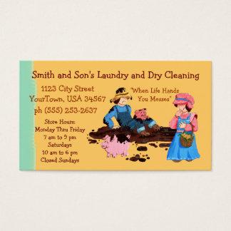 Cartão De Visitas Lavanderia e tinturaria
