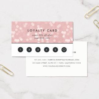 Cartão De Visitas Lealdade cor-de-rosa de Champagne Bokeh  