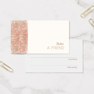 Cartão De Visitas Lealdade de cobre do cliente da referência do