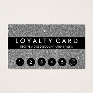 Cartão De Visitas Lealdade de prata do cliente do brilho