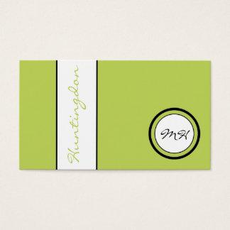 Cartão De Visitas Lealdade do monograma e do nome da Costume-Cor