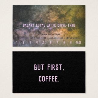 Cartão De Visitas Lealdade Latte Movimentação-Através da foto da Via