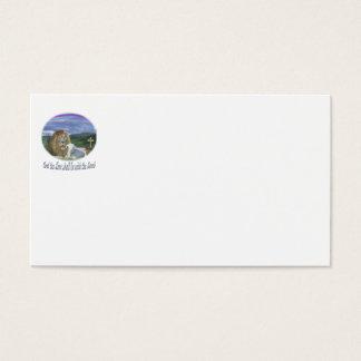 Cartão De Visitas Leão e os presentes do cristão do cordeiro