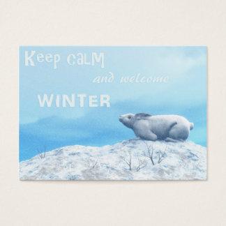 Cartão De Visitas Lebre ártica, lepus ártico, ou coelho polar