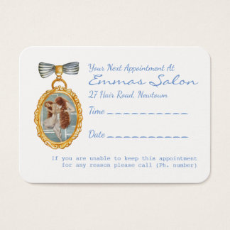 Cartão De Visitas Lembrete bonito da nomeação do cabeleireiro do