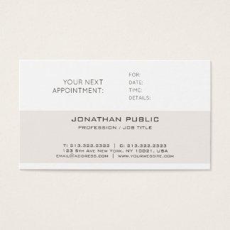 Cartão De Visitas Lembrete liso lustroso elegante moderno da
