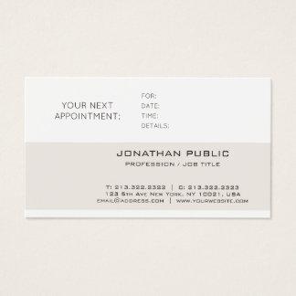 Cartão De Visitas Lembrete liso lustroso sofisticado da nomeação