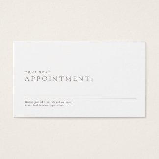 Cartão De Visitas Lembrete profissional simples da nomeação