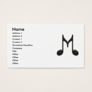 """Cartão De Visitas Letra musical de """"M"""""""