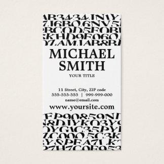 Cartão De Visitas Letras do Blogger do escritor do autor