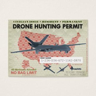 Cartão De Visitas Licenças da caça do zangão