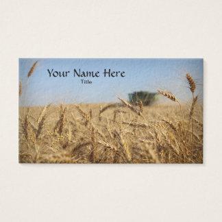 Cartão De Visitas Liga no campo de trigo