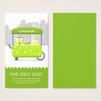 Cartão De Visitas Limonada da rua da comida