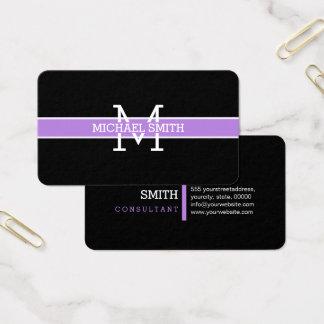 Cartão De Visitas Linha horizontal da lavanda profissional do