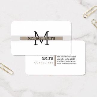 Cartão De Visitas Linha horizontal moderna de Grullo do monograma