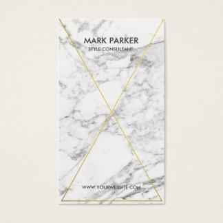 Cartão De Visitas Linha moderna arte da folha de ouro com mármore do