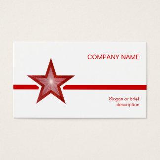 Cartão De Visitas Linha vermelha branco da estrela vermelha do