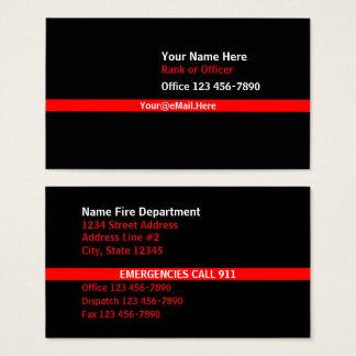 Cartão De Visitas Linha vermelha fina contato