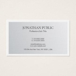 Cartão De Visitas Linho de prata elegante minimalista na moda do
