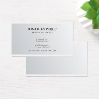 Cartão De Visitas Linho superior Luxe do olhar de prata elegante na