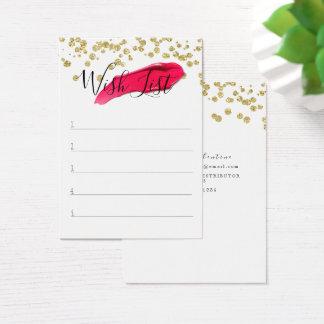Cartão De Visitas Lista de objectivos pretendidos do cliente -