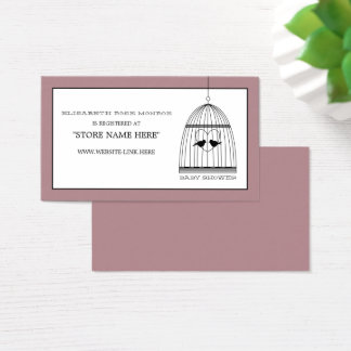 Cartão De Visitas Lista de presentes do chá de fraldas do Birdcage