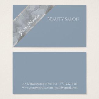 Cartão De Visitas Listra azul empoeirada minimalista moderna da