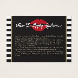 Cartão De Visitas Listra - lábios - o ouro - como se aplicar -