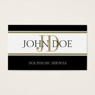 Cartão De Visitas Listra psíquico W/W do ouro