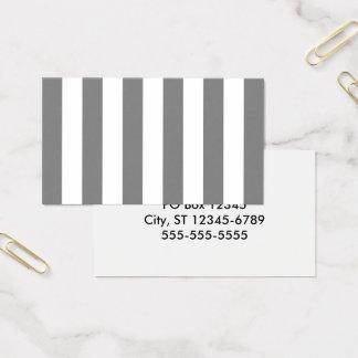 Cartão De Visitas Listras cinzentas e brancas