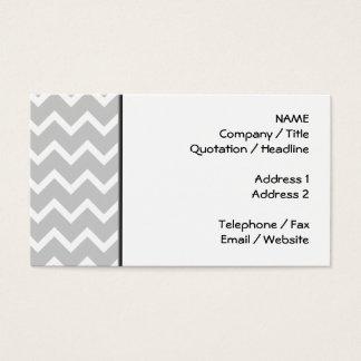 Cartão De Visitas Listras cinzentas e brancas do ziguezague